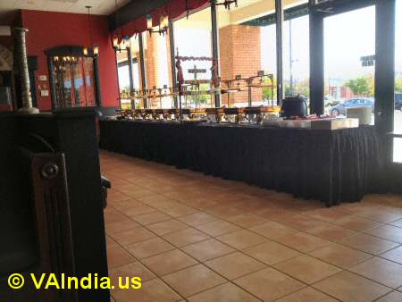 Charminar Ashburn Buffet Counter © VAIndia.us