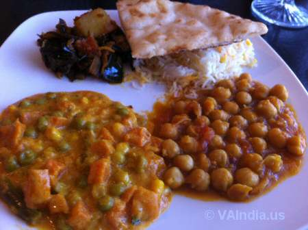 Indian Ocean Centreville Veg Curries © VAIndia.us