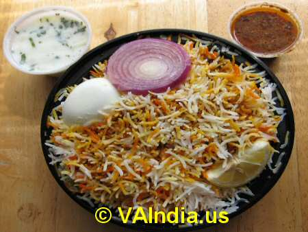 Hyderabadi Dum Egg Biryani © VAIndia.us